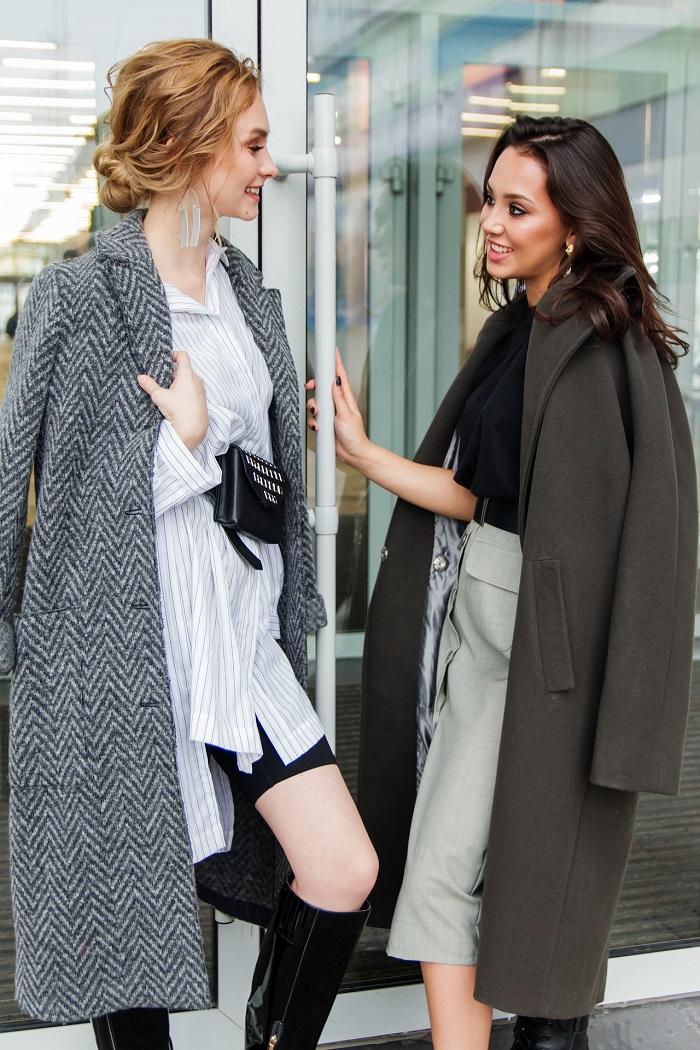 Dámsky kabát v sivej farbe
